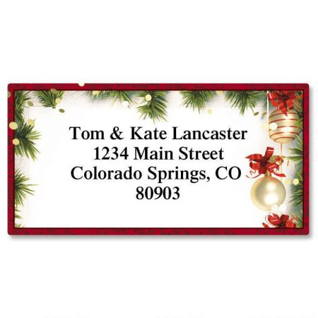 Christmas Twilight Border Return Address Labels