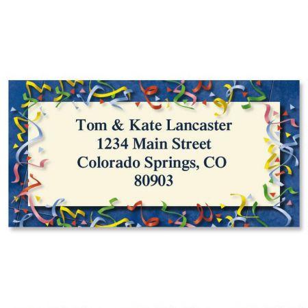 Confetti Border Return Address Labels