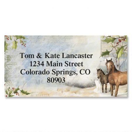 Horses Border Return Address Labels