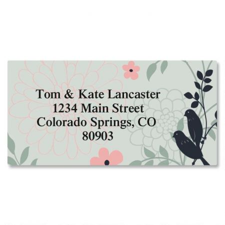 Love Birds Border Return Address Labels