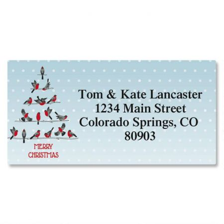 Festive Feathers Border Return Address Labels