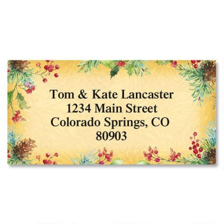 Botanical Joy Border Return Address Labels