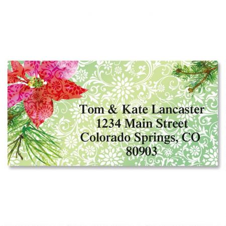 Festive Flower Border Return Address Labels