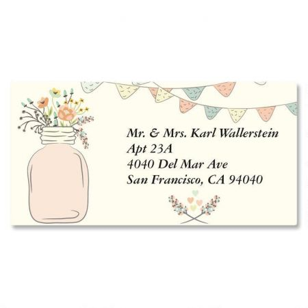 Mason Jar Border Return Address Labels