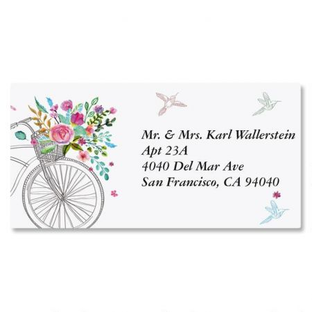 Summer Cycle Border Return Address Labels
