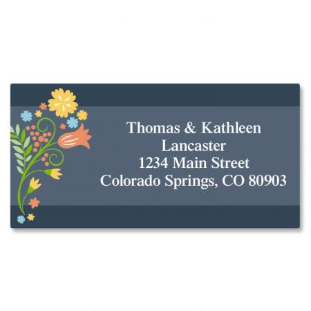 Simply Blooming Border Address Labels