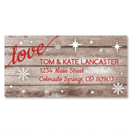 Christmas Merry Border Return Address Labels