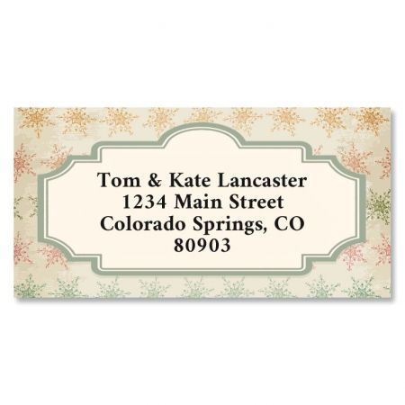Gentle Christmas Border Return Address Labels