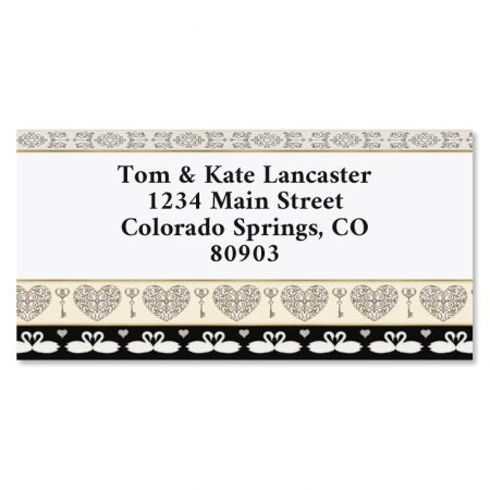 Celebrating Love Valentines Border Return Address Labels
