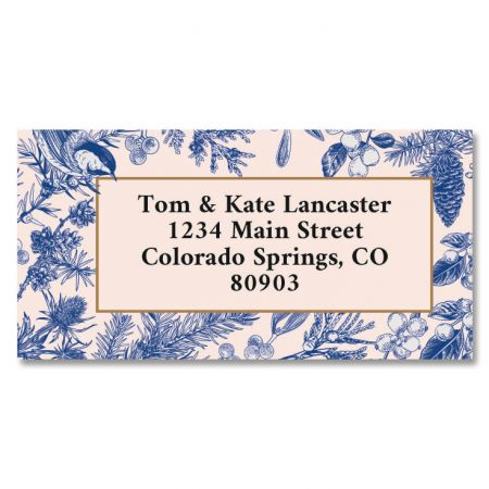 Blue Winter Return Address Labels