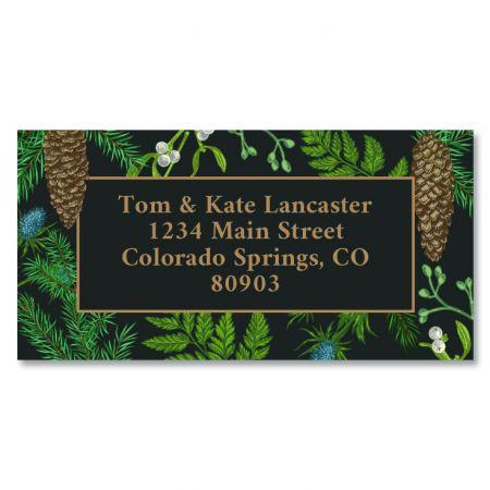 Winter Pine Border Return Address Labels