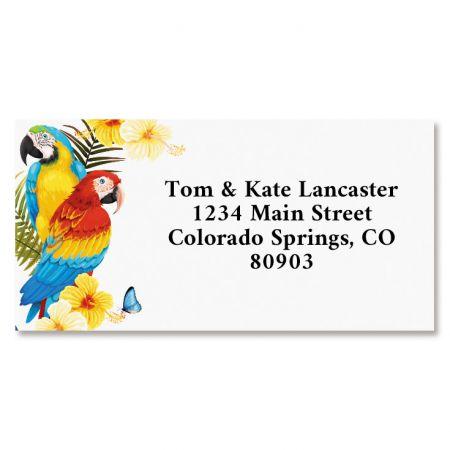 Macaw Border Return Address Labels