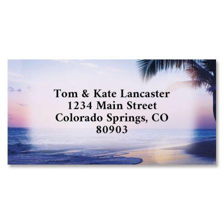 Tropical Sunset Border Return Address Labels