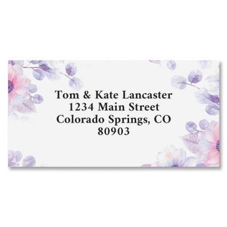 Soft Florals Border Return Address Labels