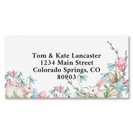 Bunny Hop Border Return Address Labels