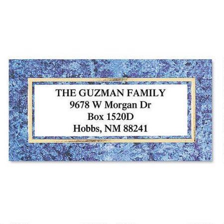 granite gold foil border return address labels colorful images