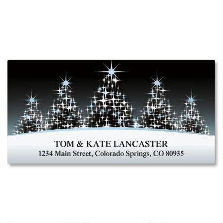 Glistening Tree Foil Deluxe Return Address Labels