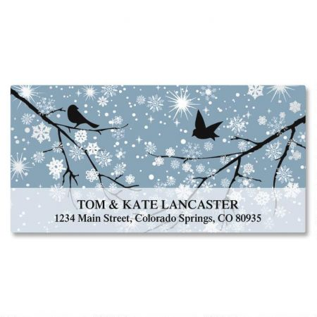 Twinkling Crystals Foil Deluxe Return Address Labels