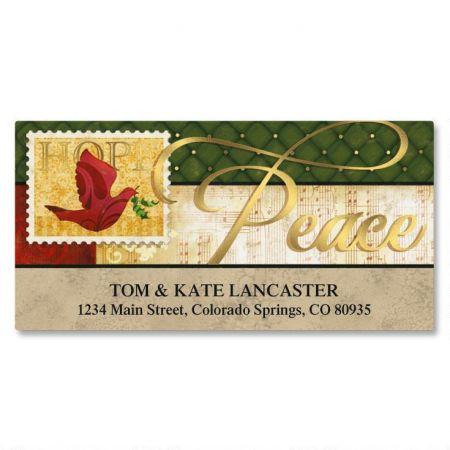 Peaceful Petals Foil Deluxe Return Address Labels