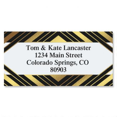 Symmetry Foil Border Address Labels