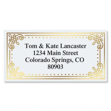 Delicate Antique Foil Border Address Labels