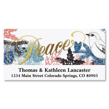 Peaceful Season Foil Deluxe Return Address Labels