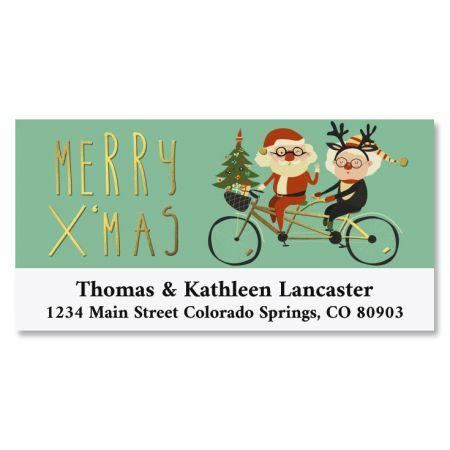 Santa Cruise Foil Deluxe Address Labels