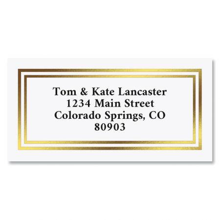 Gold Foil Border Return Address Labels