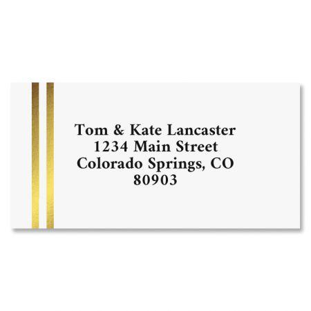 Double Gold Border Return Address Labels