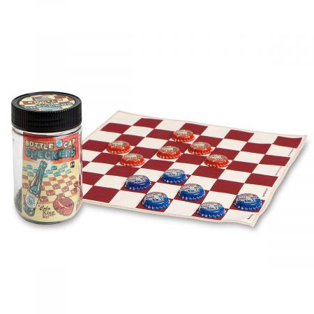 Bottlecap Checkers in a Jar