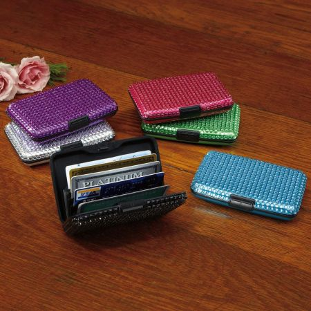 Bling Style ScanSafe Aluminum Alloy Wallet