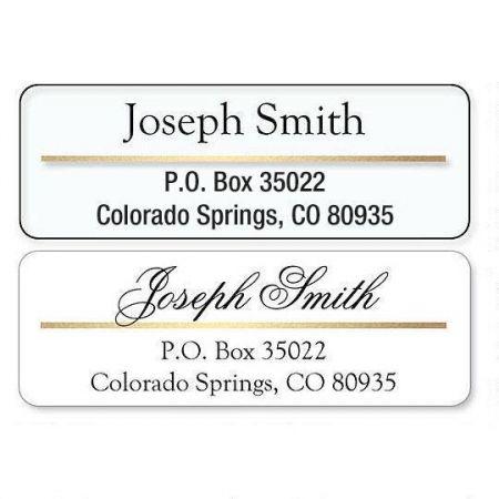 Return Address Label with Gold Foil Accent Line