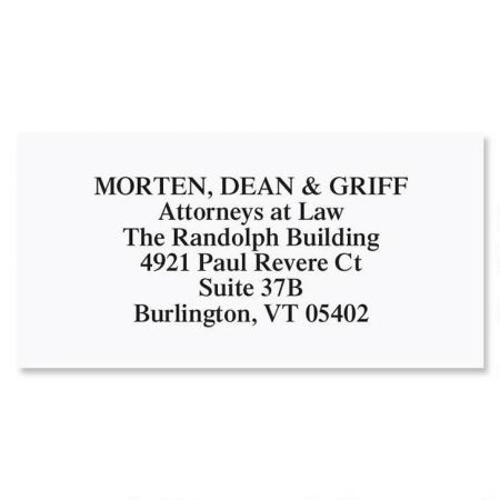 White Premier Plus  Return Address Labels