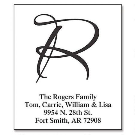 Clear Brush Initial  Select Return Address Labels