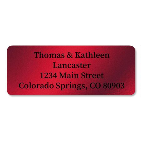 Red Foil Return Address Labels