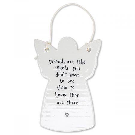 Friends Are Like Angels Porcelain Ornament