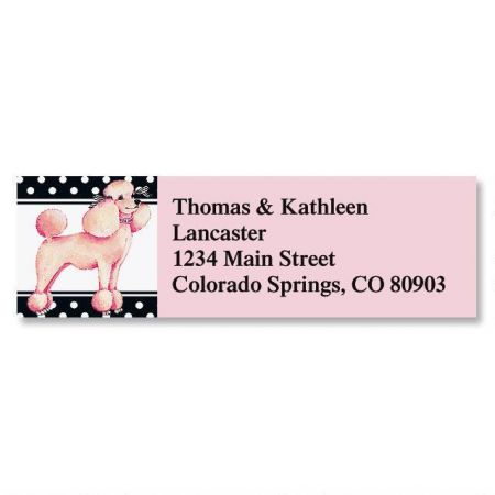 Pink Poodle Classic Address Labels