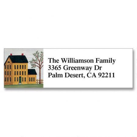 Saltbox Classic Return Address Labels
