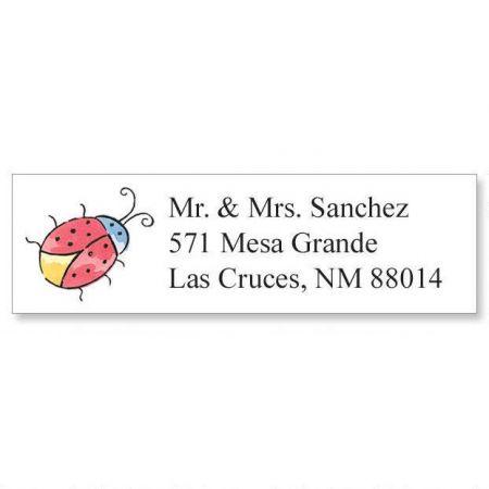 Ladybug Classic Return Address Labels