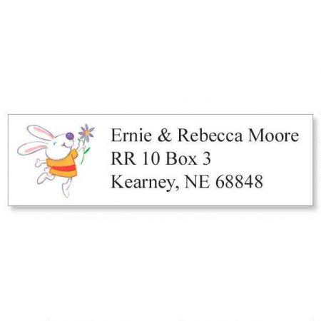 Bunny Classic Return Address Labels