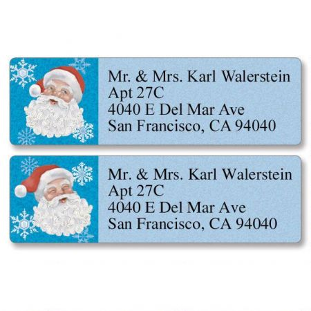 Santa Heads Classic Return Address Labels  (2 Designs)