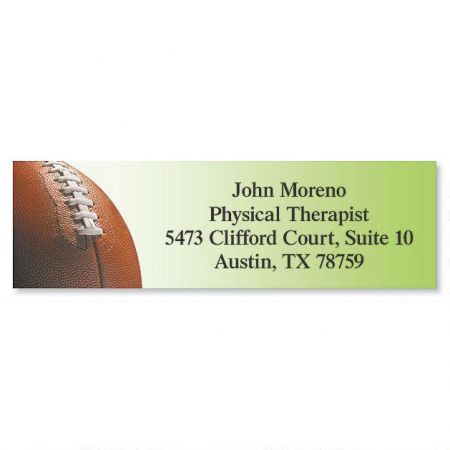 Football Classic Return Address Labels