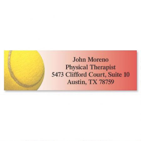 Tennis Classic Return Address Labels