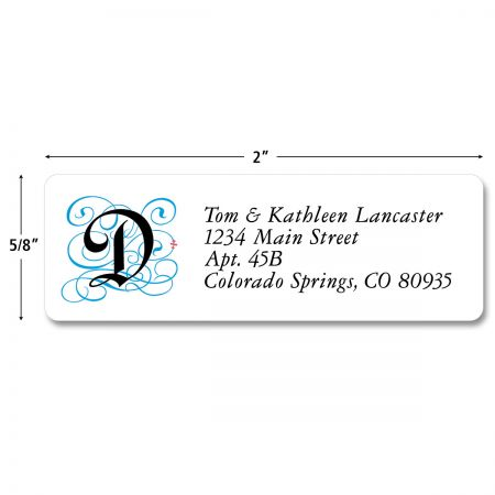 Gothic Monogram Classic Return Address Labels