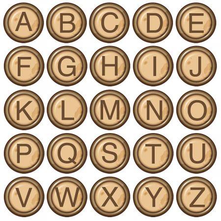 Typewriter Initial Classic Return Address Labels