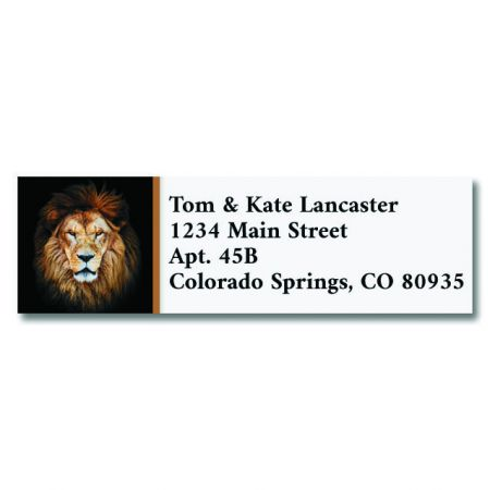 African Lion Classic Return Address Labels
