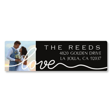 Love Classic White Photo Return Address Label