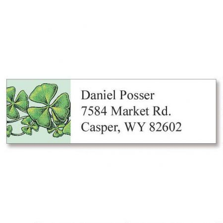 Shamrocks Classic Return Address Labels