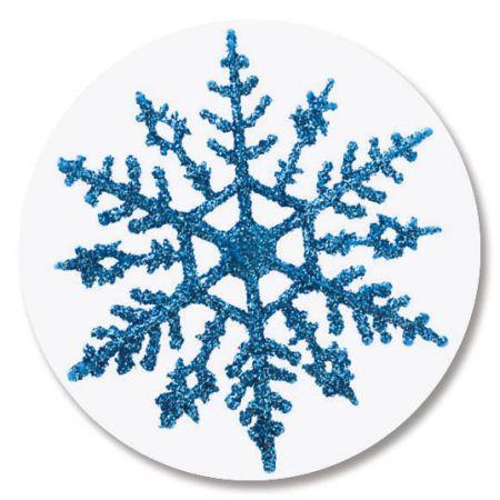 Blue Snowflake Envelope Seals