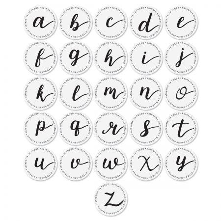 Cursive Initial Round Return Address Labels